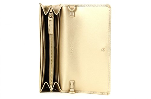 LACOSTE Chantaco Christmas Mini Crossover Wallet Rich Gold