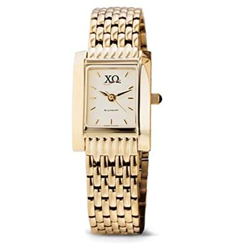 M. LA HART Chi Omega Women's Gold Quad Watch with Bracelet ()