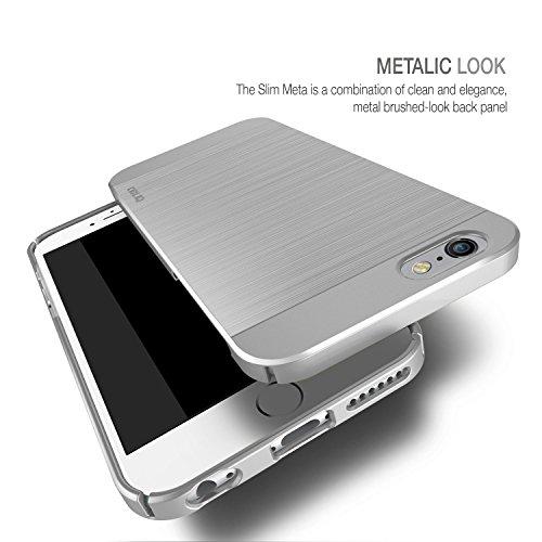 Obliq OBIP6PL-SMETA01 Slim Meta Case für Apple iPhone 6 Plus/6S Plus silber