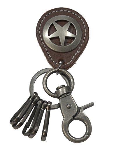 Texas Star Pendant - ViciBeads Unisex Texas Ranger Star Badge Pendant Key Chain BAG