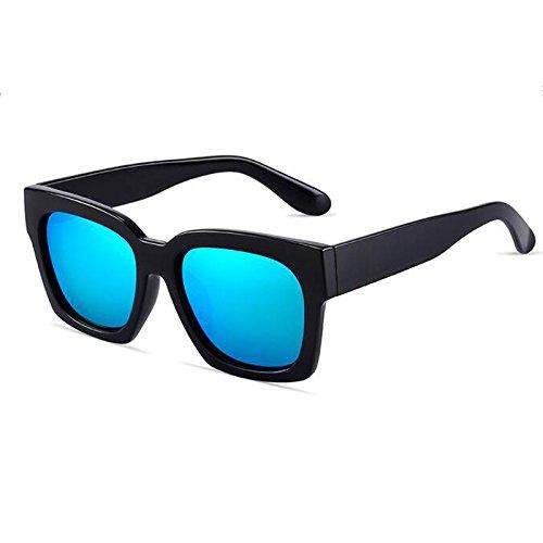 Ice Estilo gray Lens Gafas box blue WLHW Color hombre Ladies Wayfarer Black black UV400 Sunglasses de para sol Protective Unisex Black Shades xRIId0H