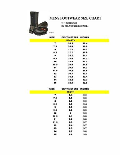 Stivali Da Moto Milwaukee Mens Classic Harness (nero, Taglia 8)