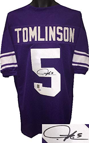 buy online d5bdc a9076 Ladainian Tomlinson Autographed TCU Horned Frogs Purple ...