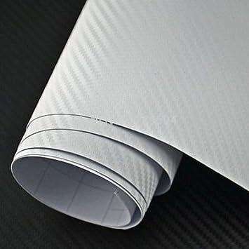 Diyah 3d Weiß Twill Carbon Film Vinyl Tabelle Rolle Wrap Diy Aufkleber Auto