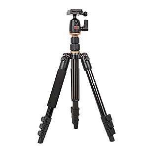 Beike BK-555 Trípode para cámara réflex con Rótula portátil plegable para viajar a tomar las fotos perfectas