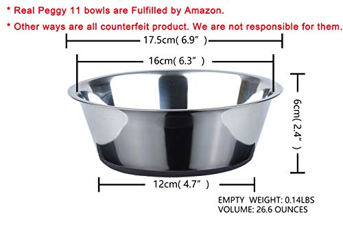 41w80LJITxL - No Spill Non-Skid Stainless Steel Deep Dog Bowls