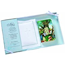 """Lillian Rose 4.5""""x2.75"""" Baby Bible W/white Cotton Cover"""