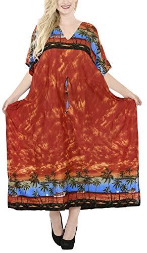 Maxi Partito Libero Donne Spiaggia Kimono Per Formato Vacanze Di I Stampato Vestito La Pigiama Giorni Bn Coprire Leela Tutti Loungewear Lungo Caftano Tunica Vestiti Arancione n882 Kaftan 6b7YfgyvI