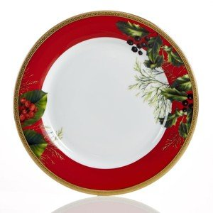 (Charter Club Red Rim Accent Plate (Only at Macy's) )