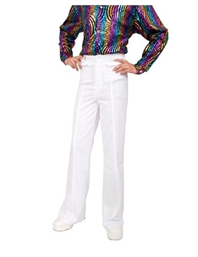 Sailor Dance Recital Costumes (OvedcRay Mens 70S Disco Fever White Bellbottom Bell Bottom Costume Pants Saturday Night)