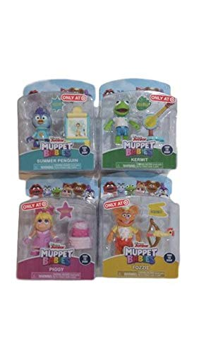 Action Set Poseable Figure - Muppet Babies Poseable Action Figure Set of 4: Kermit, Fozzie, Piggy, and Summer Penguin