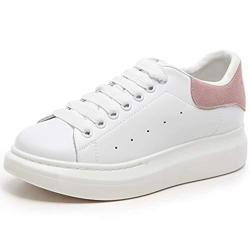 Basse Bianco Donna Sneaker con rosa YORWOR Platform Bianco Ginnastica Leggera Piattaforma Suola da Comoda Outdoor Scarpe OvwwUnqIt