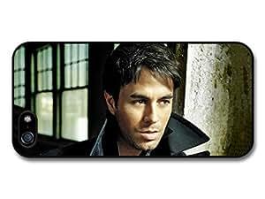 Enrique Iglesias with Black Coat Portrait Close Up Case For Iphone 5/5S Cover