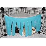 Corner Fleece Forest Hideout for Guinea Pigs, Ferrets, Chinchillas, Hedgehogs, Dwarf Rabbits and Other Small Pets - Accessories and Toys 10