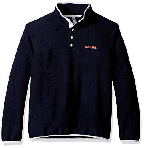 - chicka-d NCAA Officially Licensed Auburn University Ladies Looped Terry Snap Pullover/Quarter Button Up/Sweater - Auburn Tigers Women's Apparel