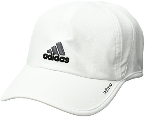 adidas Men's Adizero Cap, White/Black/Sharp Grey, One Size Fits All Athletic Jersey Mesh Cap