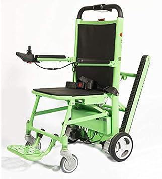 Silla de ruedas eléctrica plegable de la prima, silla de la escalera de la evacuación, transporte de emergencia manual de la pista elevación-capacidad de carga: 440 lb. verde: Amazon.es: Salud y cuidado