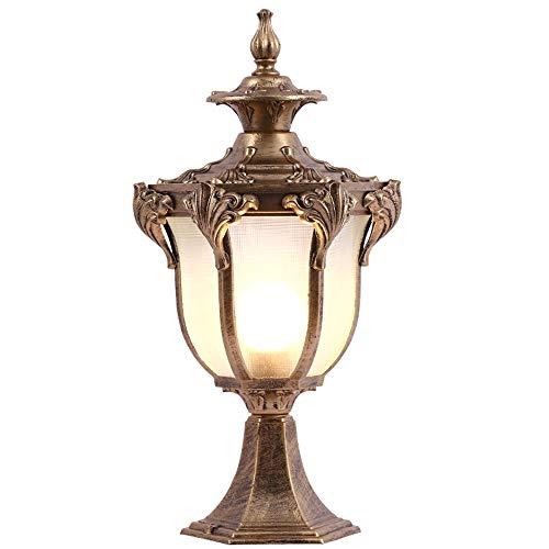 xiadsk Lámpara de Pared lámpara de pie lámpara de jardín lámpara de Pared Cuadrada lámpara de Poste lámpara Exterior lámpara Impermeable de jardín Villa lámpara de la Puerta 20 * 43 cm: