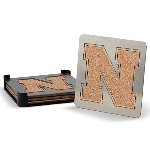 NCAA Nebraska Cornhuskers Boaster Stainless Steel Coaster Set of 4