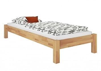 Erst Holz Buche Bett Futonbett Einzelbett 90x200 Massivholzbett