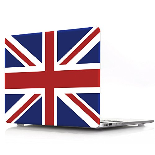 HRH UK England British Flag Union Jack Design Laptop Body Shell Protective Hard Case for MacBook Newest Air 13