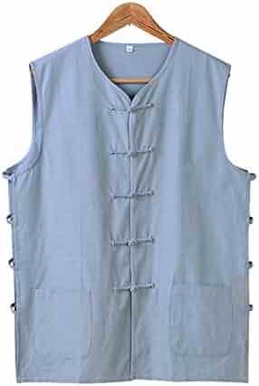 f652e9727 ZooBoo Chinese Waistcoat Wing Chun Sleeveless Vest Martial Arts Buddhist  Monks Uniform