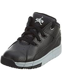 9689c20787ae Nike Jordan Ol School Low Black Metallic Silver-Black (Toddler)