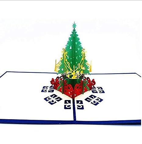 Amazon Com Min Fan Handmade Pop Up Christmas Cards 3d Christmas