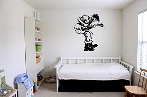 Vinyl Sticker Musician Guitar Player Country Singer Music Band Super Star Man Mural Decal Wall Art Decor SA3244
