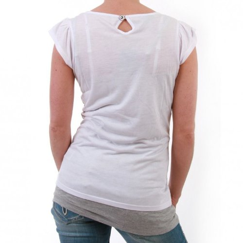 M.O.D - Camiseta - para mujer blanco S