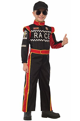 [Mememall Fashion Racecar Driver Boys Child Costume (Medium)] (Cars Movie Costumes)