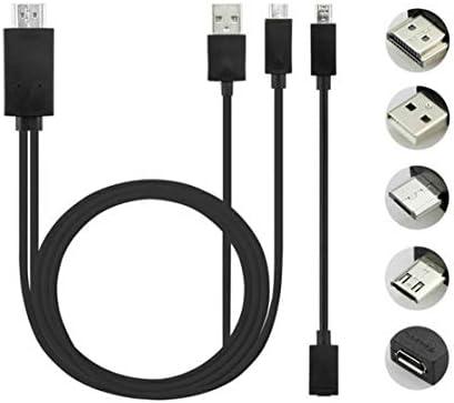 Candybarbar Adaptador de Cable de TV de Alta definición Duradero de 5 Pines y 11 Pines CRO USB MHL a HD 1080P HD para teléfono Android: Amazon.es: Electrónica