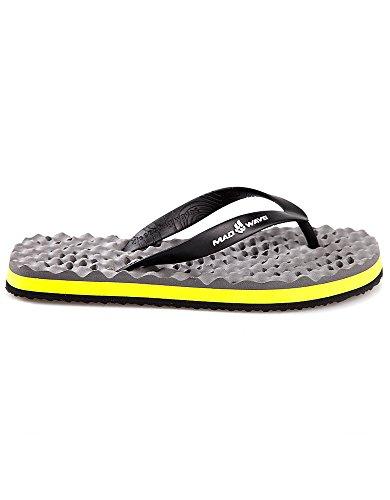 Mad Wave Hombre m032003406W Zapatillas–Gris/Amarillo, talla 41