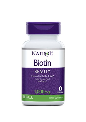Natrol Biotin Tablets, 1,000mcg, 100 Count (Pack of ()