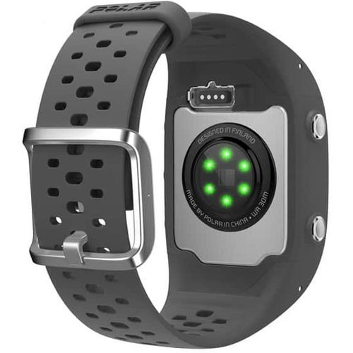 Polar M430 Wrist-Based Heart Rate GPS Running Watch Grey with Cinch Bag