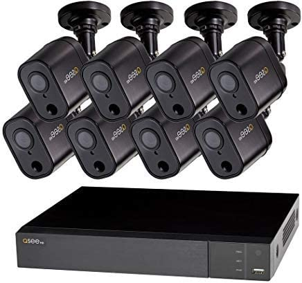 Q-See QTH98-8GD-1 Home Security System 8-Channel DVR with 1 TB Hard Drive and 8X 1080p PIR Cameras, Indoor and Outdoor, Night Vision,