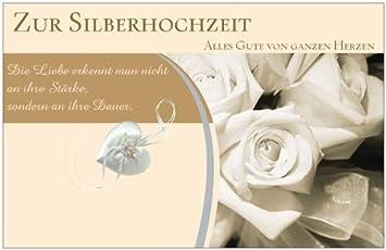 Glückwunschkarte Geburtstagskarte Silberne Hochzeit Hochzeitskarte  Grußkarte Geschenk Einladungskarte Einladung Maxikarte Postkarte Karte Mit  Umschlag Weiss ...