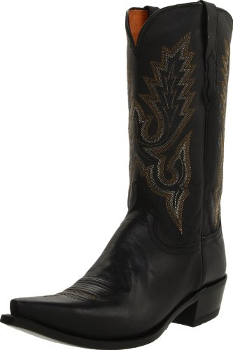 (Lucchese Classics Men's M1007 Boot,Black Madras Goat,10 D US)