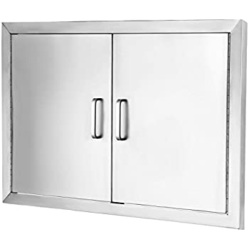 VEVOR Access Door 304 Stainless Steel BBQ Doors 31 x24  Double Access Door Vertical  sc 1 st  Amazon.com : bbq doors black - pezcame.com
