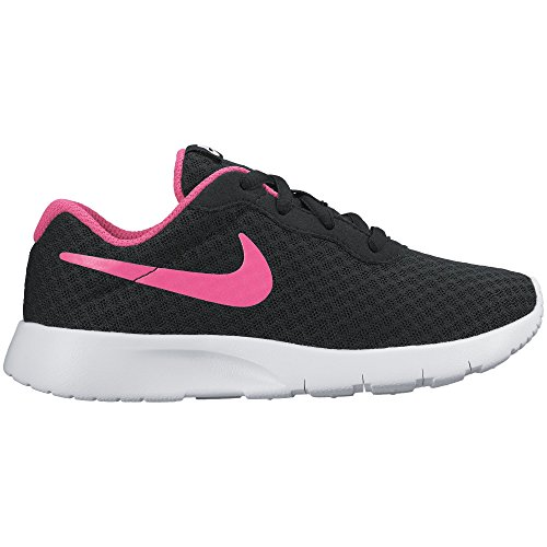 Nike Girls Tanjun (Gs), Black/Hyper Pink/White, Size 3 M Us Little Kid (Girls Size 3 Nike Shoes)