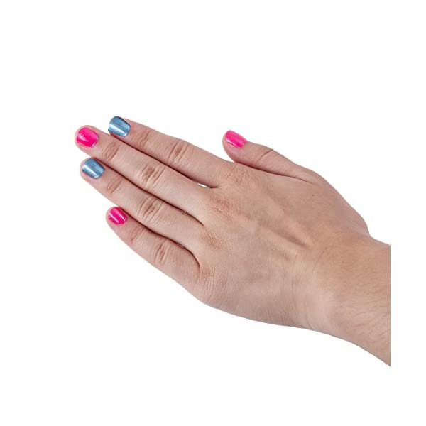 Hot Focus Scented Nail Boutique - 168 Piece Unicorn Nail Art Kit Includes Press on Nails, Nail Patches, Nail Stickers, Nail Polishes, Nail File and Ring - Non-Toxic Water Based Peel Off Nail Polish 6