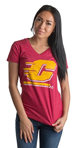 Central Michigan University | CMU Chippewas Vintage Style Ladies' V-neck T-shirt