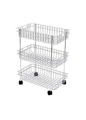 Queen Stainless Steel 3 Layer Kitchen Trolley Rack  Silver