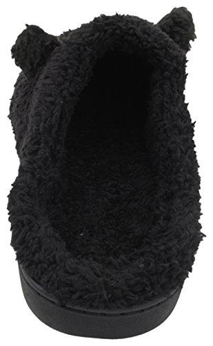 Mule Gorilla Black Novelty Slippers Slumberzzz Fleece Mens 0Fgywv