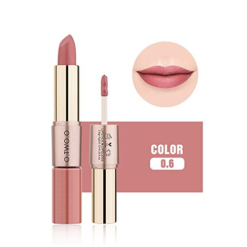 � Clearance Sale O.TWO.O Lipstick 12 Colors Women 2 in 1 Velvet Matte Lipstick Lip Gloss Double-End Makeup (F) ()