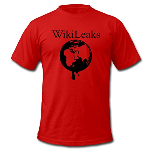WikiLeaks Dripping Globe Men's T-Shirt by American Apparel by Spreadshirt, M, red