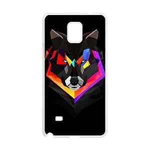 Samsung Galaxy Note 4 Cell Phone Case White wolf polygon art VIU928477