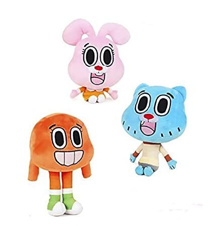 The Amazing World of Gumbal Plush Toys Playset 3 Pieces Figure - Peluches