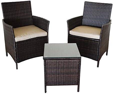 Kiefergarden Washington Mini Conjunto 2 sillones y Mesa de Exterior, Marron: Amazon.es: Jardín