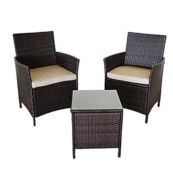 Kiefergarden Conjunto de Dos sillones y una Mesa de jardín Washington Mini